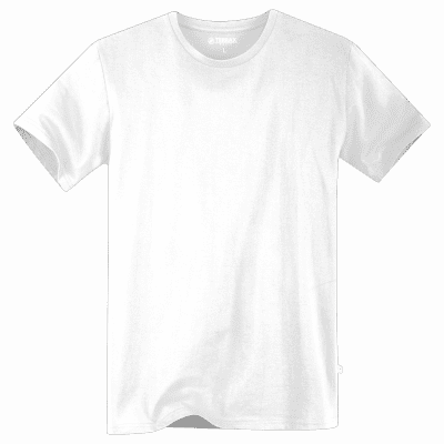 Foto van Terrax Heren Basic T-shirt Wit