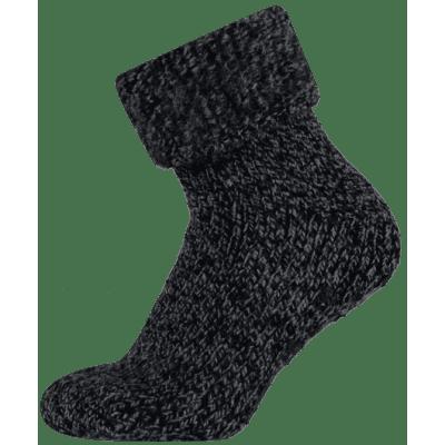 Apollo Wollen Heren Huissokken Anti Slip 24355 Zwart
