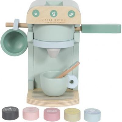 Foto van Little Dutch Houten Koffiezetapparaat Mint Pastelkleur