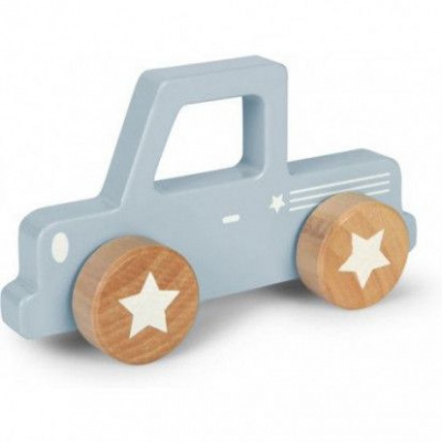 Foto van Little Dutch Houten Pick Up Auto Blauw pastel