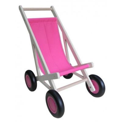 Poppen Buggy Roze Van Dijk Toys ***SHOWMODEL***