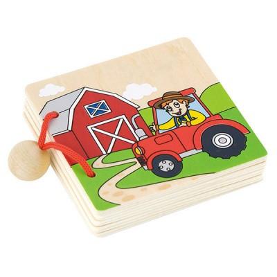Viga Toys Houten Boekje Boerderijdieren