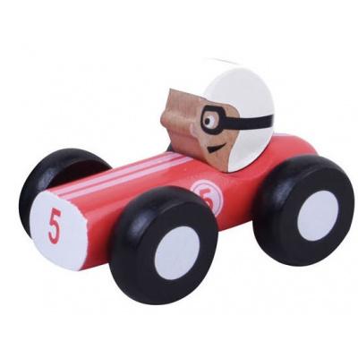 Foto van Jouéco Houten Raceauto 9 cm Rood 80048 in geschenkdoos