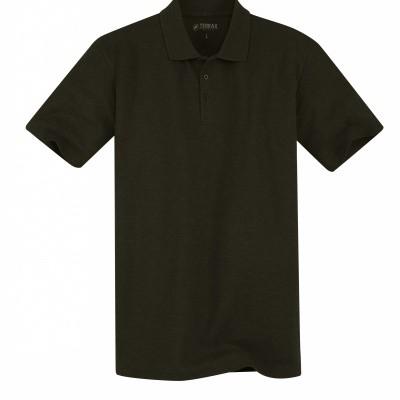 Foto van Terrax Heren Basic Poloshirt Zwart