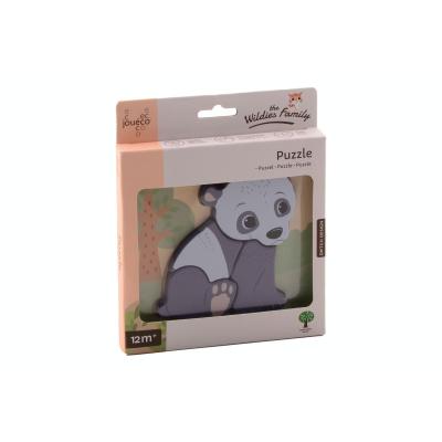 Jouéco The Wildies Family puzzel Pandabeer - 4 delig