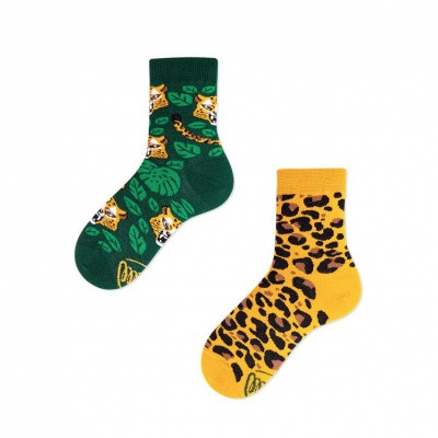 Foto van Many Mornings El Leopardo Lage Mismatched Unisex Kids Sokken
