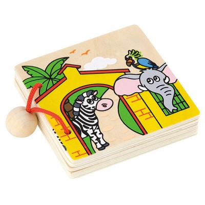 Viga Toys Houten Boekje Dierentuin