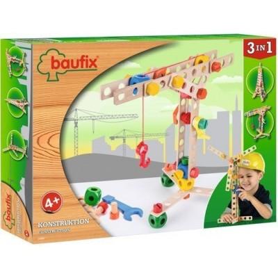 Baufix Houten Bouwconstructie Set 3-in-1 Kraan 70 delig (10280)