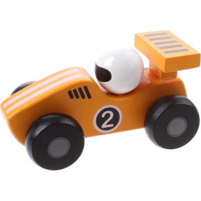 Jouéco Houten Raceauto 80070 Geel - 12,5 cm
