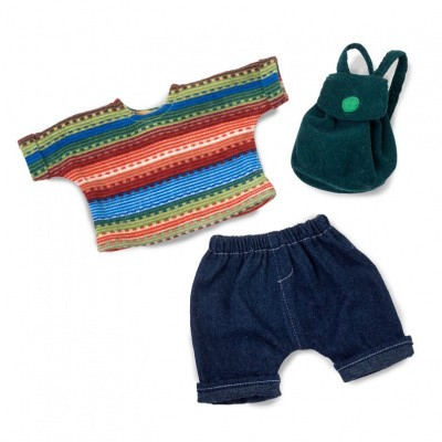 Foto van Rubens Barn Cutie Poppenkleding set Back to school