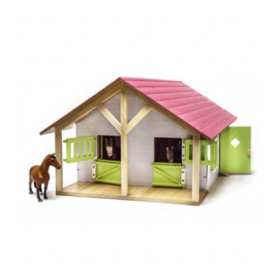 Foto van Kids Globe Paardenstal met 2 boxen en berging roze