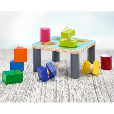 Selecta Draai-sorteer Speeltafel met Doorkijk en Draai effect 15,5 cm - 62059