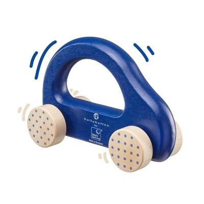 Selecta Houten Duwauto Bellybutton Blauw 10 cm - 64008