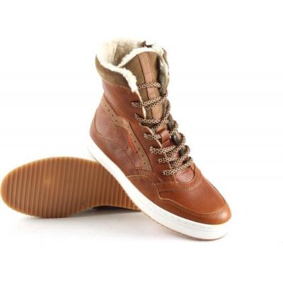 Vingino Sneaker Rick Xhi Leder Cognac - TEDDY GEVOERD (OP=OP)