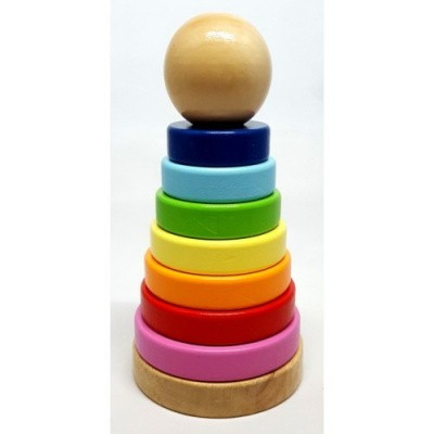 Foto van 2-Play Ring Pyramide Hout