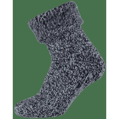 Apollo Wollen Heren Huissokken Anti Slip 24355 Donkerblauw