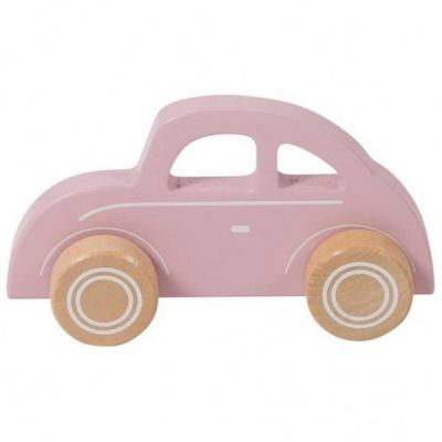 Little Dutch Houten Grijp-duw Auto Roze