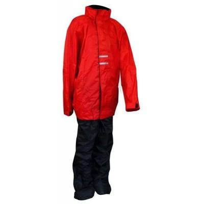 Regenpak voor Kinderen 43SC Rood/Zwart (OP=OP)