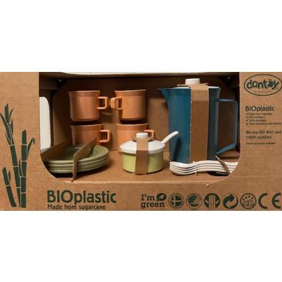 Dantoy BIOplastic Koffieset 17 delig in giftbox - Dark Ocean Blue