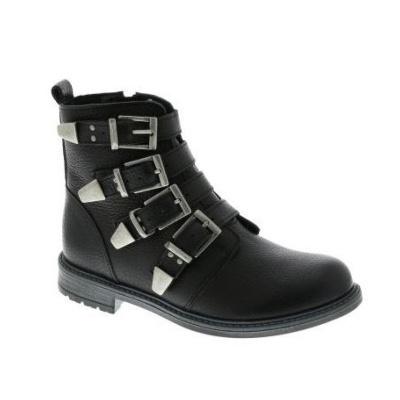 Vingino Leren Dames Boot Claire Zwart (OP=OP!)