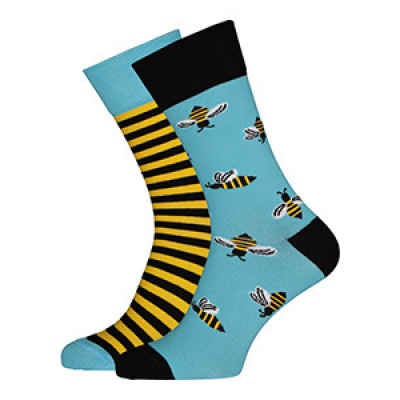 Foto van Many Mornings Bee Bee Mismatched Unisex Sokken