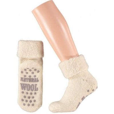 Apollo Wollen Huissokken Kids Anti-slip Ecru