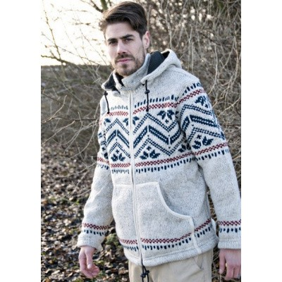 Foto van Pure Wool Heren Vest Gevoerd WJK-1314 Gebroken wit