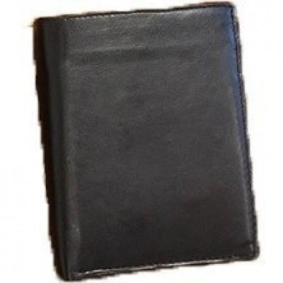 Billfolds Leren Portemonnee W 5107 Zwart