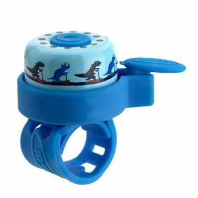 Micro Bel Dino Blauw - voor step of fiets