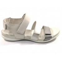 Ecco sandaal creme combi 243943 51435
