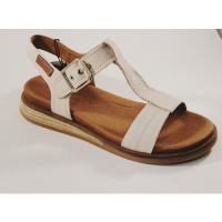 Carmela ecru leather 67850