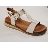 Carmela ecru leather 67850