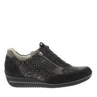 Waldläufer sneaker zwart combi 980008 H