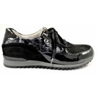 6e4c6385a98 Waldläufer sneaker zwart combi 370013 H