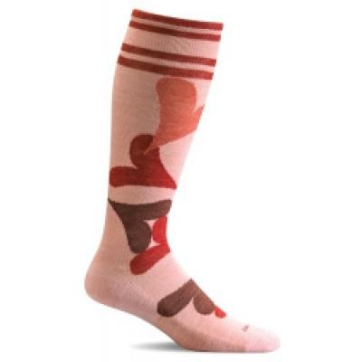 SockWell kniekousen roze/rood SW71W.520