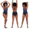 Afbeelding van Speedo dames badpak placement powerback black/purple