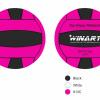 Afbeelding van Winart Waterpolobal roze/zwart mt. 3