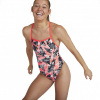 Afbeelding van Speedo damesbadpak allover v-back red-black