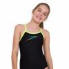 Afbeelding van Speedo meisjes badpak Boom Placement thin muscleback black-yellow