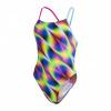 Afbeelding van Speedo dames badpak Allover tie-back pink-blue