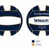 Afbeelding van Winart Waterpolobal pupil navy/ whit/navy mt. 3