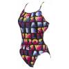Afbeelding van Arena Pop Reversible dames badpak challlenge back