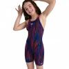 Afbeelding van Speedo meisjes wedstrijdbadpak bla/red