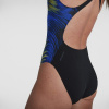 Afbeelding van Speedo dames badpak placement powerback black/blue