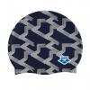 Afbeelding van Arena badmuts Icons Team Stripe assorti blauw print