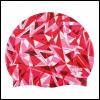 Afbeelding van Arena badmuts Shattered Glass fluo-red