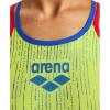 Afbeelding van Arena dames badpak One Shiny Double Cross Back soft green