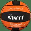 Afbeelding van Winart waterpolobal oranje/zwart Mt. 4 en 5