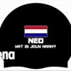 Afbeelding van Arena badmuts Moulded Silicone Cap NED + NAAM