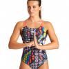 Afbeelding van Arena damesbadpak Mirrors Glass swim pro multi